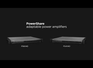 Nuevos amplificadores PowerShare con tecnología Dante de Bose