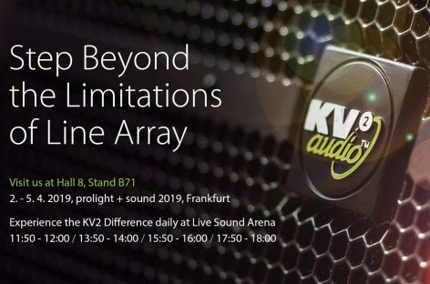 KV2 Audio lanza ESD Cube en Prolight + Sound 2019