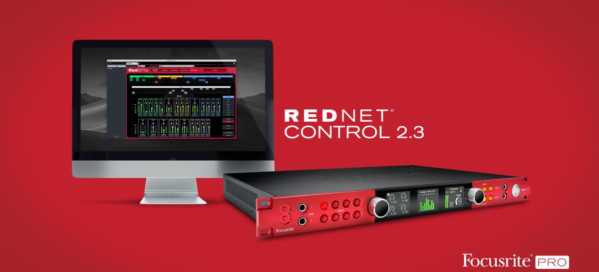 RedNet Control de Focusrite ahora incluye soporte para interfaces Red Range