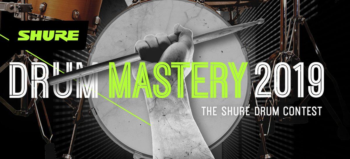 """Shure anuncia """"Drum Mastery 2019"""", su concurso de batería"""