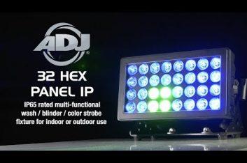 ADJ presentó su nueva luminaria 32 HEX Panel IP