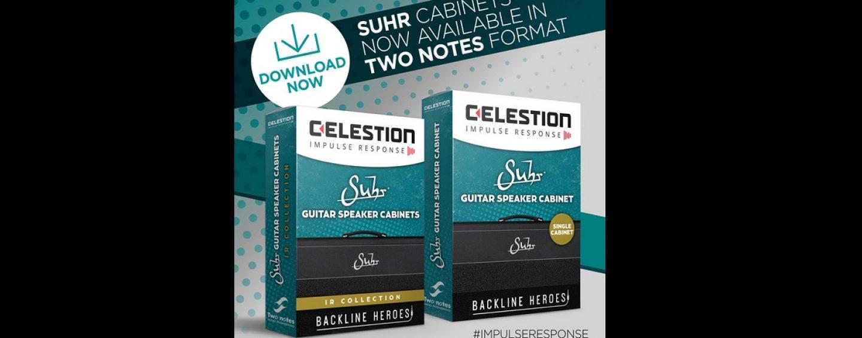 Celestion presenta el nuevo Suhr Cabinet Impulse Responses