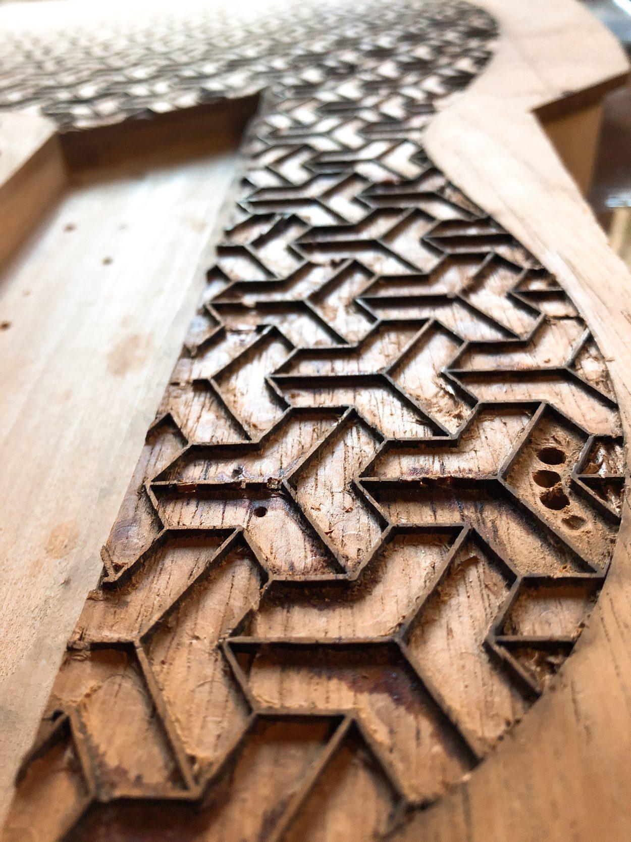 Detalle inlay bajo Escher