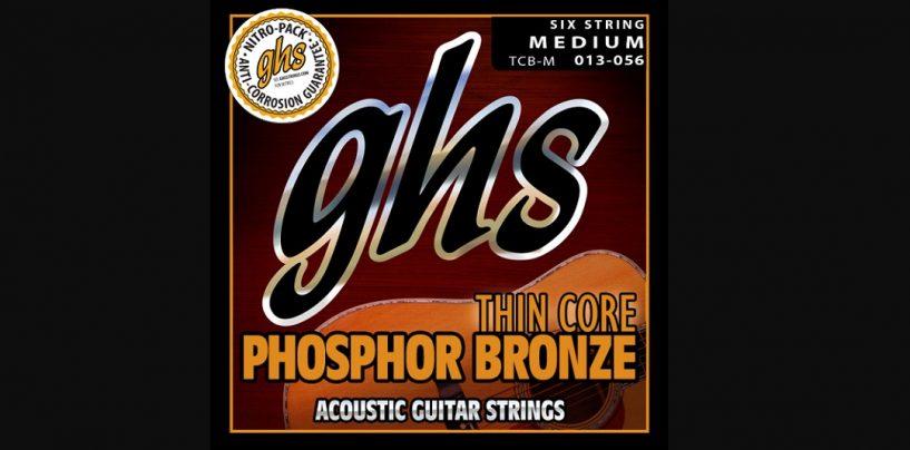 GHS presenta las cuerdas Thin Core Phosphor Bronze