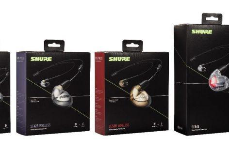Shure presenta una nueva actualización para la línea de auriculares SE