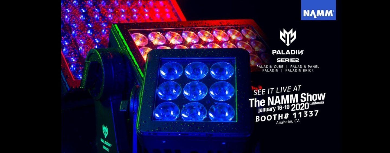 NAMM 2020: Elation llevará sus gamas Paladin, Smarty y Fuze al show