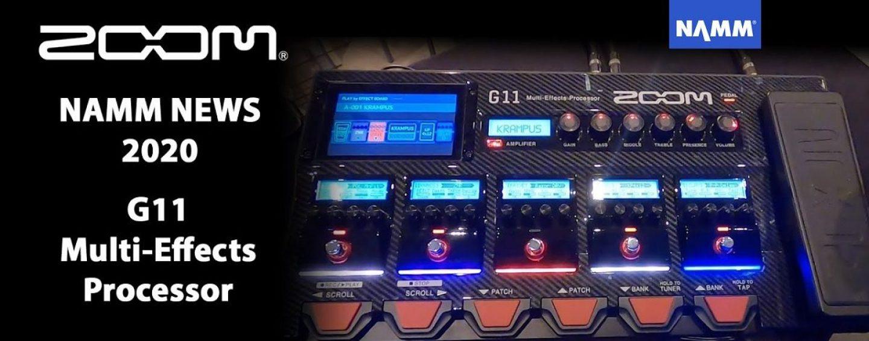 NAMM 2020: Zoom lanza G11