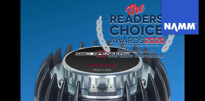 NAMM 2020: El driver B&C DCX464 ganó un premio