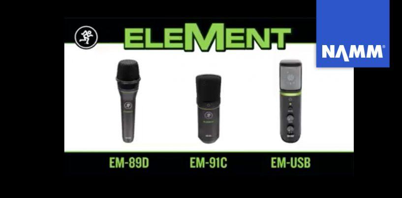NAMM 2020: Mackie presenta micrófonos de la serie EleMent