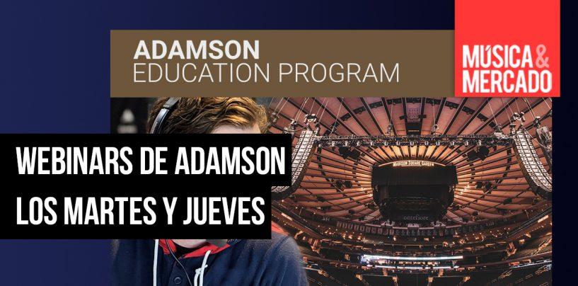 Webinars gratuitos de Adamson