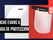 Parches Evans se transforman en máscaras de protección
