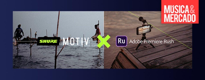 Obtén dos meses de Adobe Premiere Rush comprando Motiv de Shure