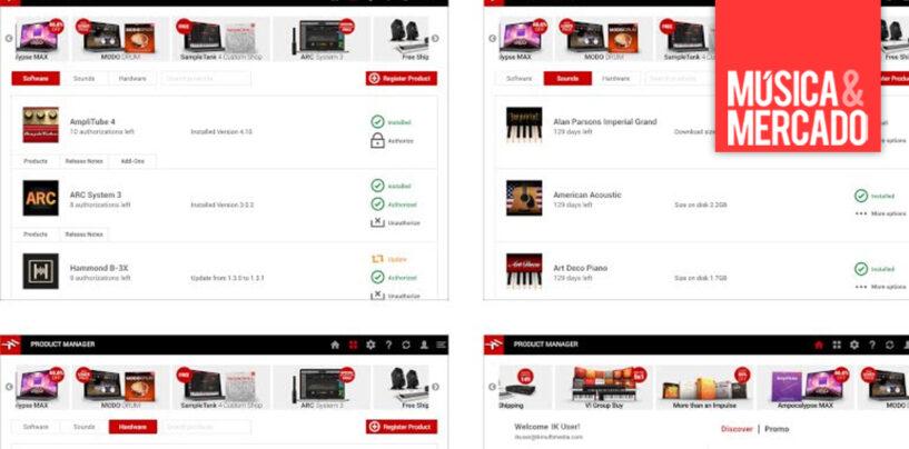 IK Multimedia lanza software para administrar todos los productos de la marca