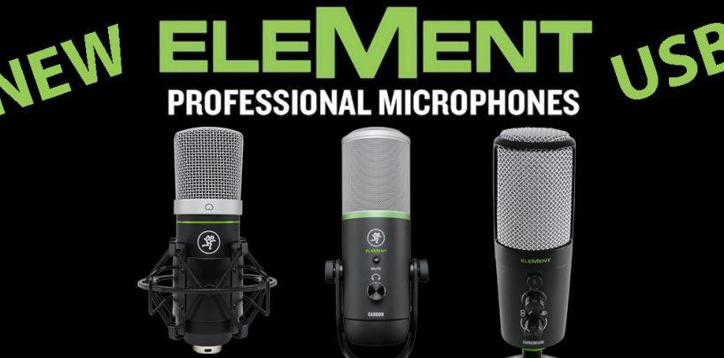 Mackie lanza nuevos micrófonos EleMent USB y auriculares MC-100