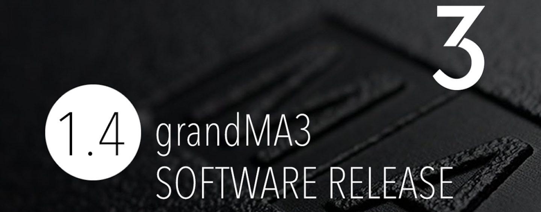 Software grandMA3 1.4. con nuevas características