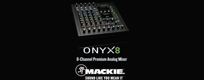 Mixer analógico Onyx8 de Mackie: compacto y portátil