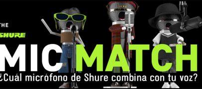 Shure presenta Mic Match para encontrar el micrófono correcto