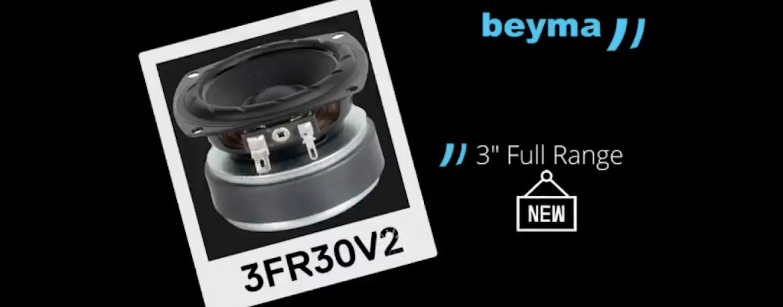 Beyma lanza transductor 3FR30V2 full range