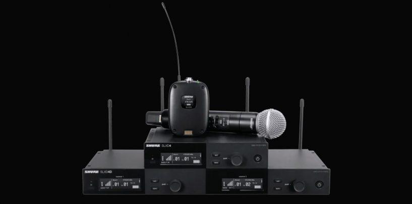 Sistema inalámbrico digital SLX-D de Shure tiene nuevos recursos