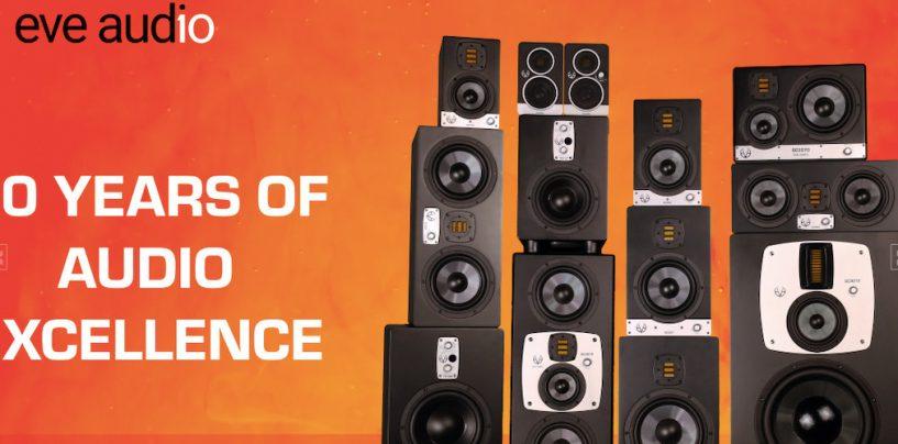 10 años de EVE Audio en la fabricación de monitores de estudio