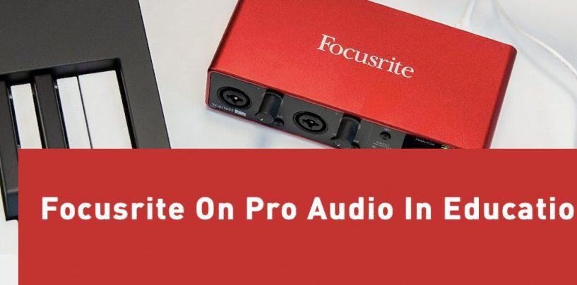 Nuevos webinars y cursos de entrenamiento de Focusrite Pro