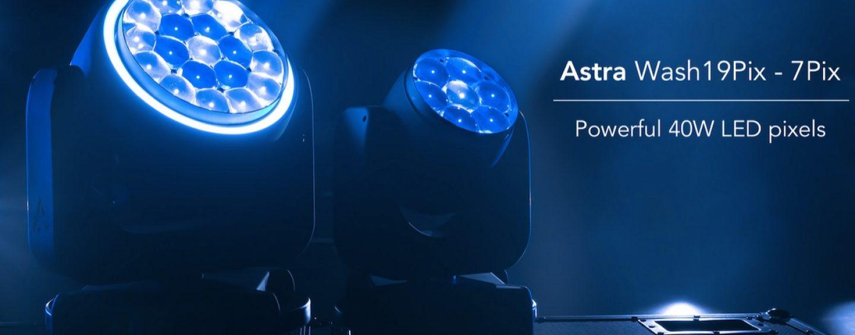 Luces wash LED Astra Wash7Pix y Astra Wash19Pix de Prolights