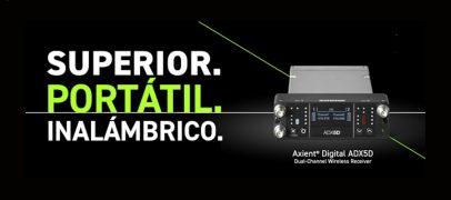 Shure presenta nuevo receptor portátil ADX5D