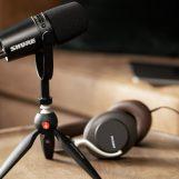 Shure lanza kit para podcast MV7 con mini trípode Manfrotto