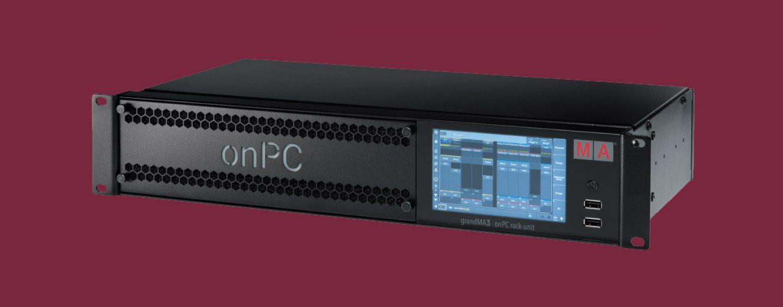 MA Lighting lanza grandMA3 onPC rack-unit