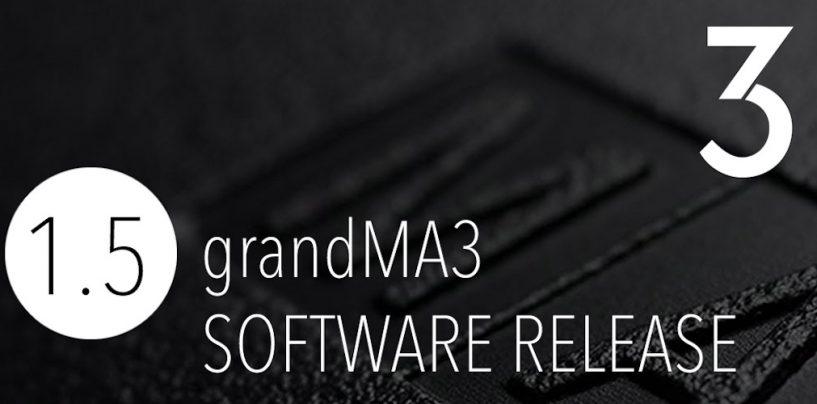 grandMA3 software 1.5.: qué trae de nuevo
