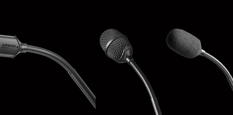 Shure presenta micrófono de doble cápsula Microflex MX415